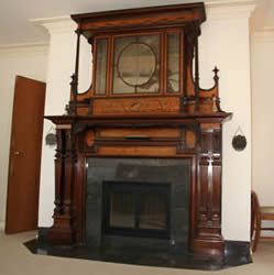 Inlaid Antique Fireplace